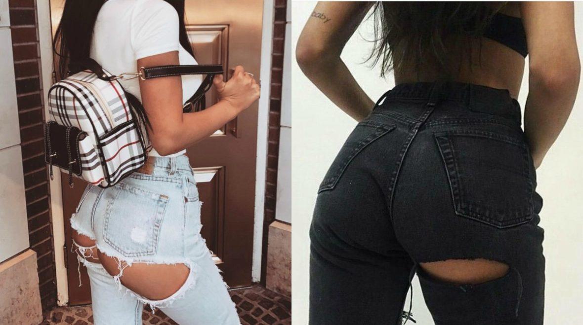 В моду вошли джинсы, порванные сзади