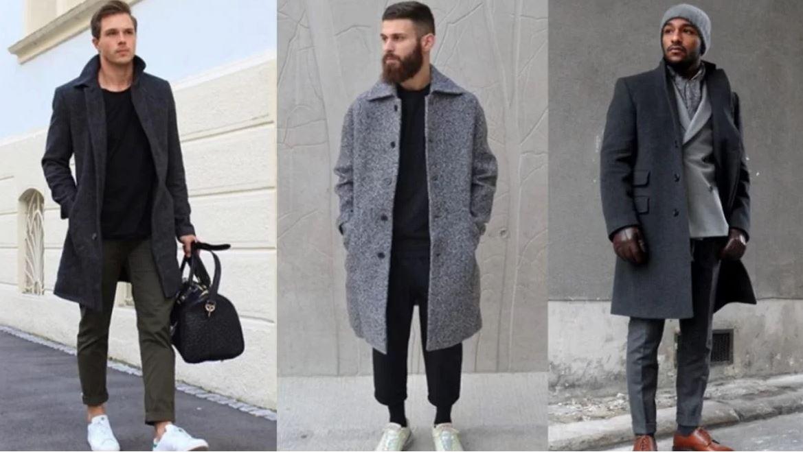 Качественное мужское драповое пальто